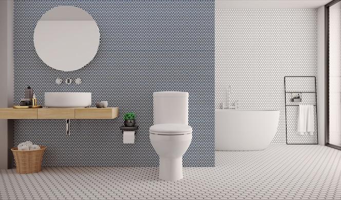 Toilettes minimalistes.