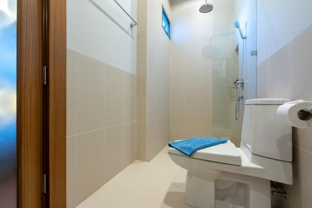 Toilettes modernes dans une maison de luxe