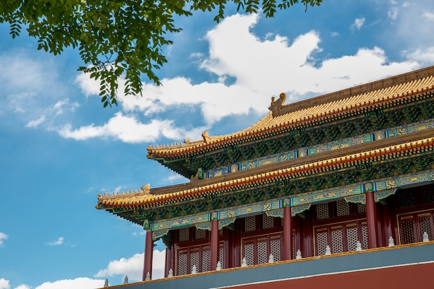 Toit architectural chinois traditionnel