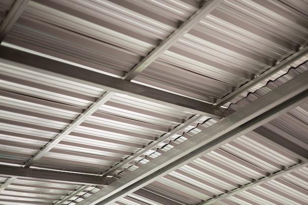 Toit de bâtiment industriel en tôle d'aluminium