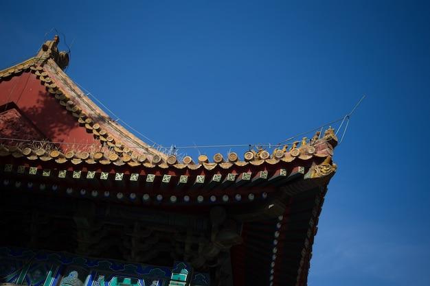 Toit du bâtiment chinois