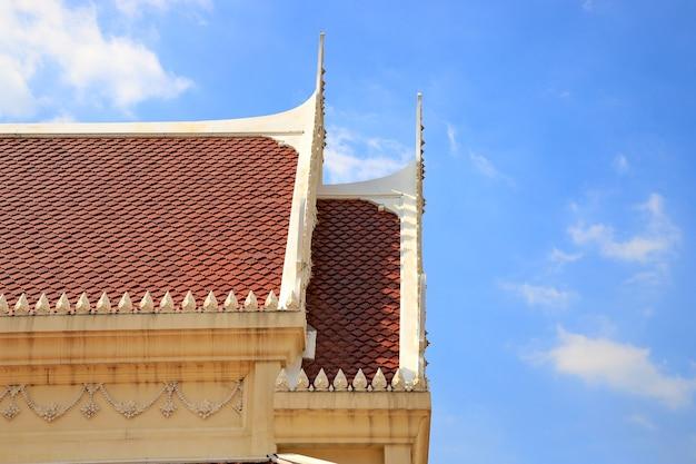 Toit du temple thaïlandais
