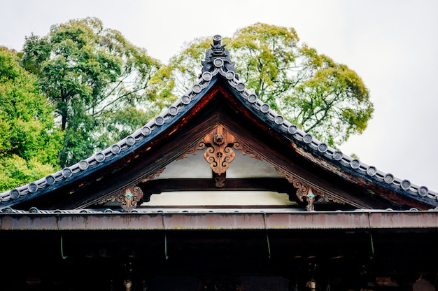 Toit du temple traditionnel japon