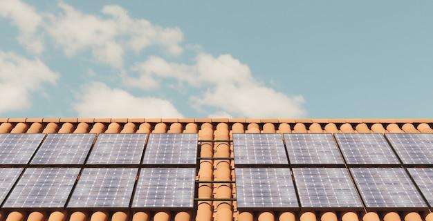 Toit de panneaux solaires