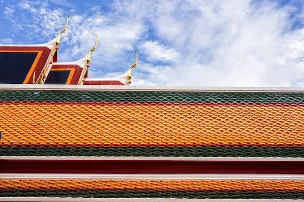 Toit, temple thaïlandais, sommet, pignon, thaïlande