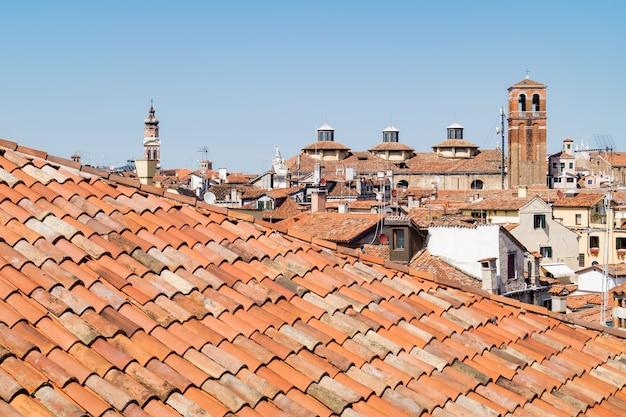 Les toits de venise vus d'en haut