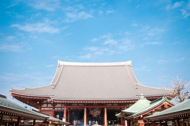 Tokyo, japon - 20 février 2019: temple senso-ji, célèbre temple de tokyo, japon.