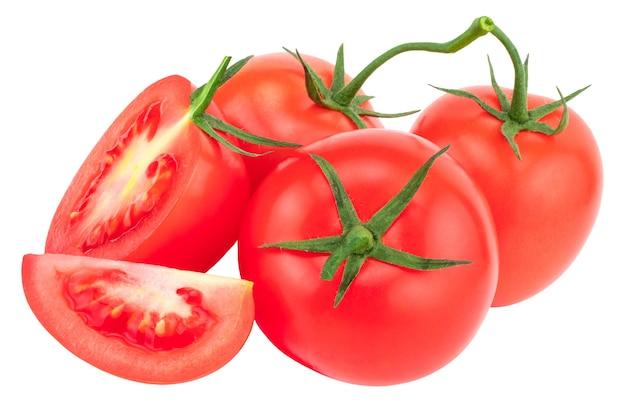 Tomate isolée sur blanc. avec chemin de détourage.