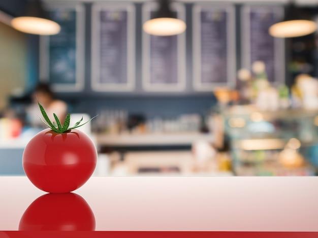 Tomate rouge sur le comptoir dans la cuisine
