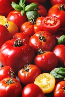 Tomates fraîches mûres