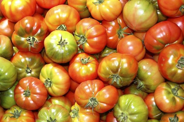 Tomates, marché, légume tomate