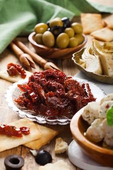Tomates séchées aux olives