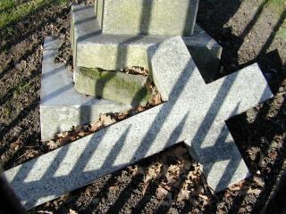 Tombé croix, la mort