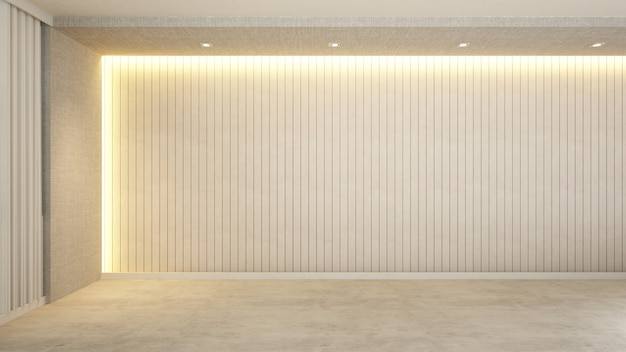 Tonalité chaude de la pièce vide pour les œuvres d'art - rendu 3d