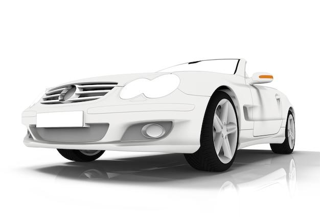 Toon voiture blanche