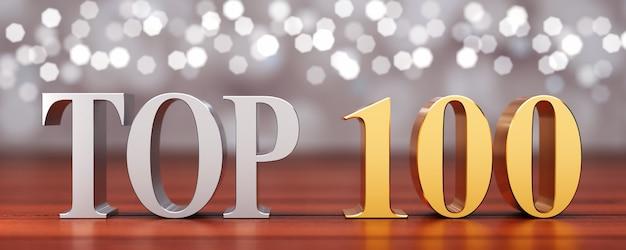Top 100 sur planches de bois