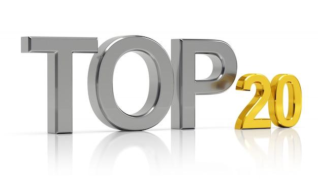 Top 20 rendu 3d