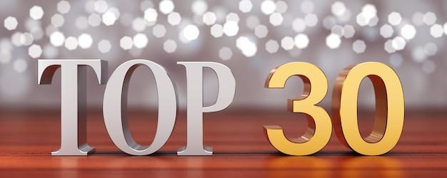 Top 30 sur des planches de bois