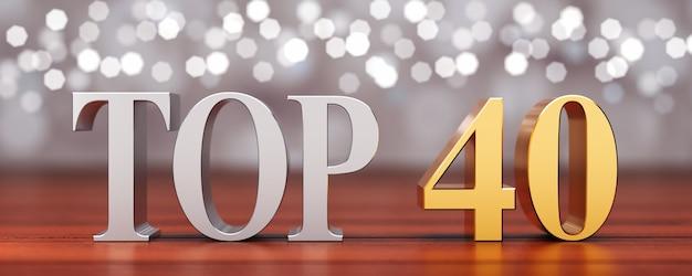 Top 40 sur planches de bois