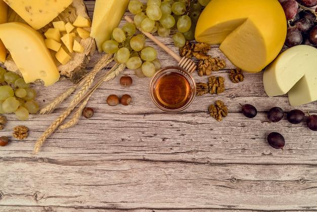Top sélection de fromages gastronomiques aux raisins