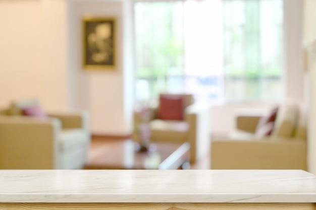 Top table de bureau en marbre dans le salon