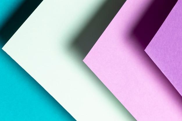 Top view pattern avec différentes nuances de couleurs gros plan