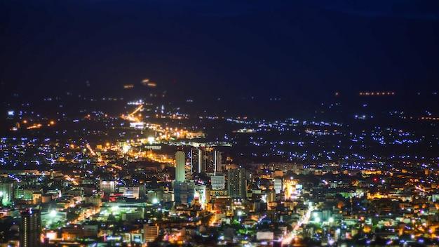 Top vue ville de nuit