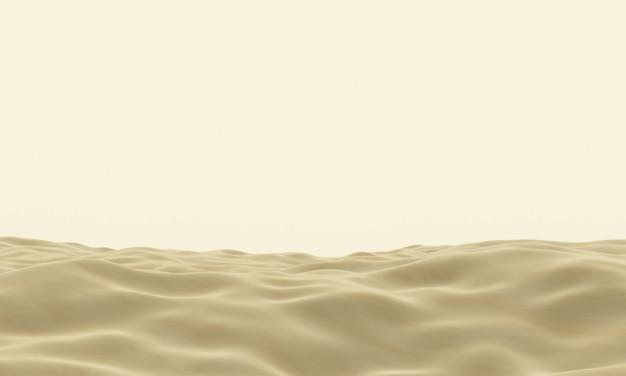 Topographie du désert brun rendu en 3d. dune de sable.