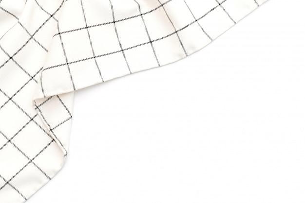 Torchon de cuisine (serviette) sur fond blanc