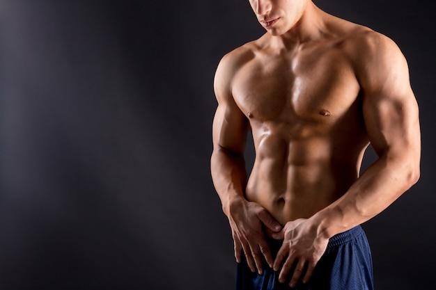 Torse modèle athlète homme fitness