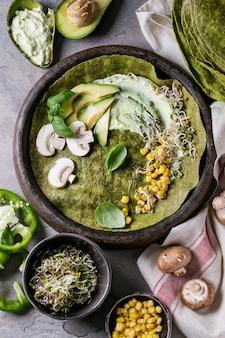 Tortilla aux épinards verts
