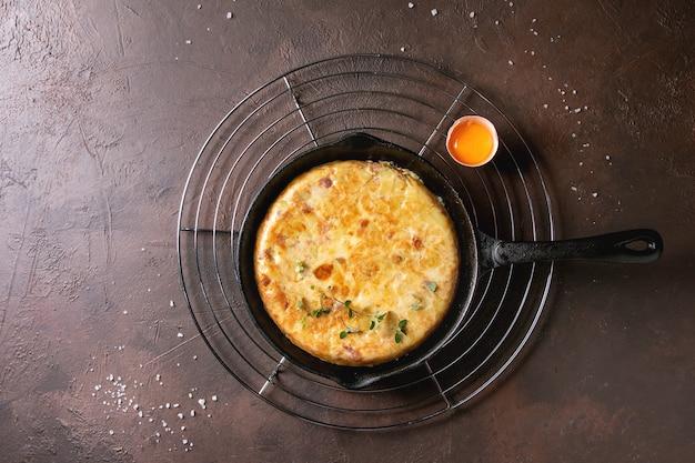 Tortilla de pommes de terre aux lardons