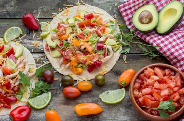 Tortillas aux légumes