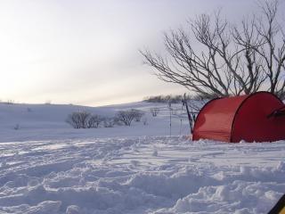 Tôt le matin de ma tente