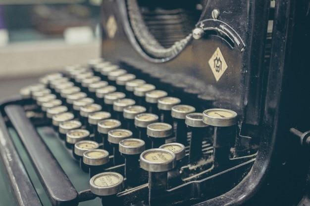 Touches de machines à écrire anciennes
