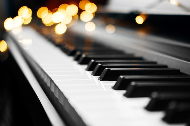 Touches de piano bokeh
