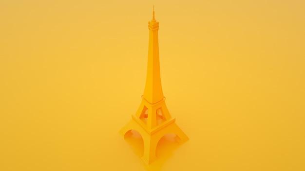 Tour eiffel sur fond jaune