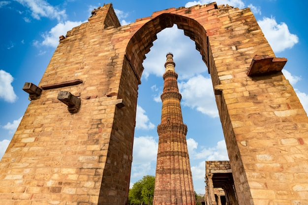 Tour de grès rouge à new delhi