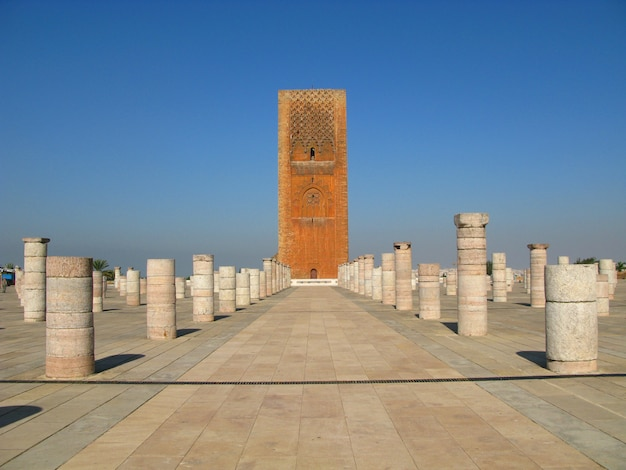 La tour hassan, rabat, maroc