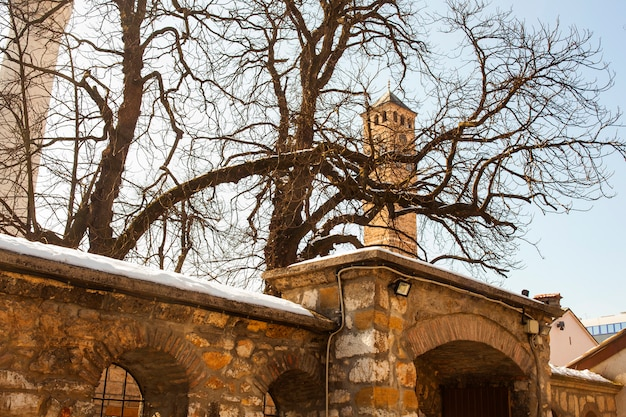 La tour de l'horloge à sarajevo