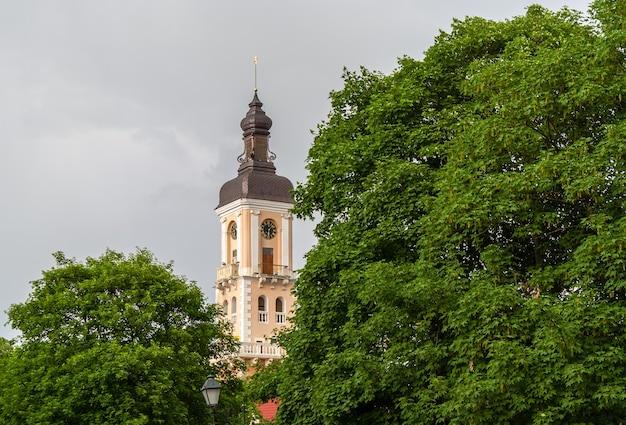 Tour de la mairie de kamianets-podilskyi. ukraine