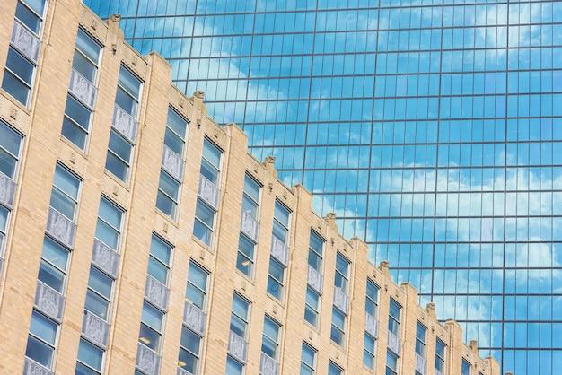 Tour de verre dans le centre-ville de boston