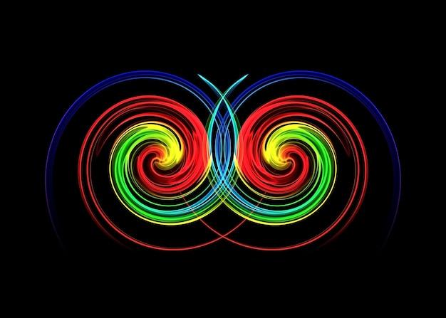 Tourbillon graphique coloré
