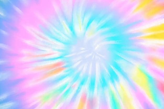 Tourbillon pastel tie dye fond coloré