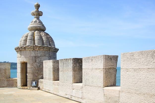 Tourelle de la tour de belem (torre de belem) à lisbonne, portugal
