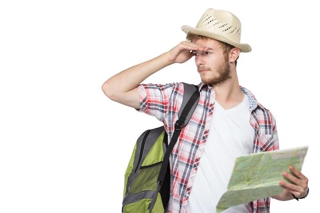 Touriste de jeune homme