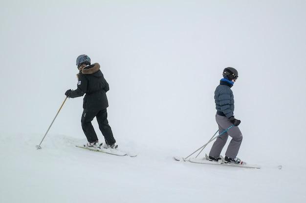 Touristes, ski, whistler, colombie britannique, canada