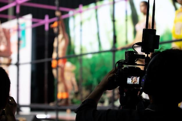 Tournage en direct du réseau social de caméras vidéo