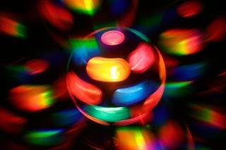 Tourner résumé toile de fond de disco lampe