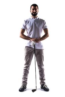 Tournoi de tennis de golf à l'expression blanche